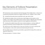 Key Elements of Folklife Presentation_image